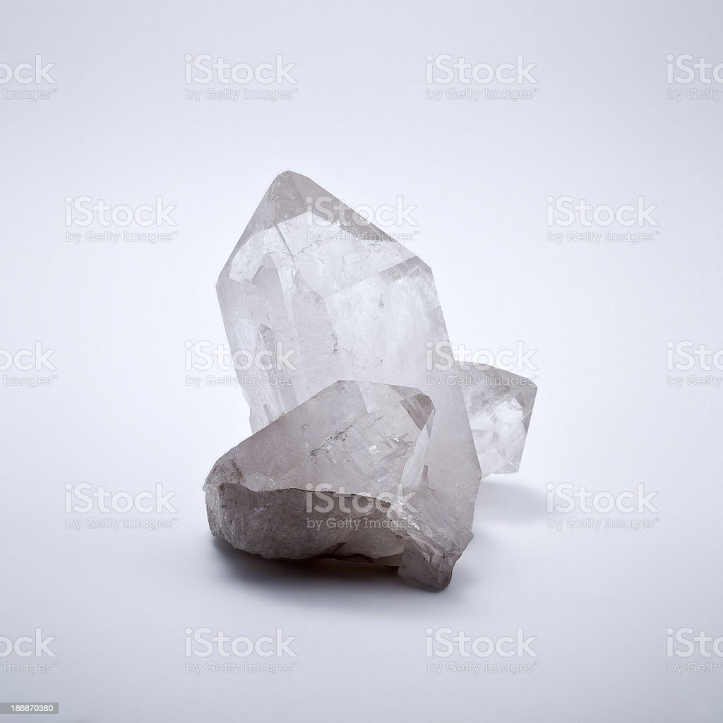 Quartz mineral, Rock crystal royalty-free stock photo