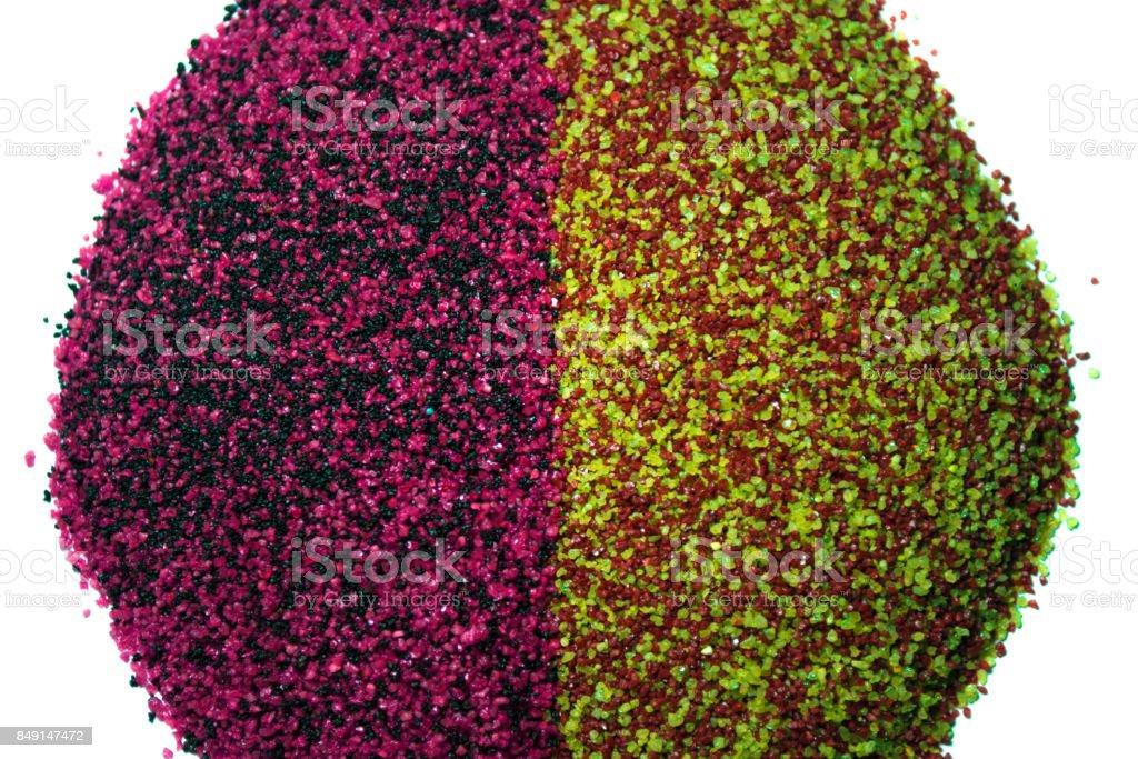 Quartz sand pile background texture stock photo