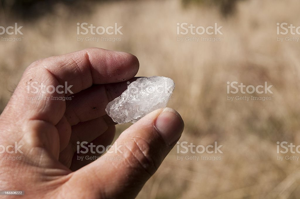 Quartzite Sample in a Geologists Hand stock photo