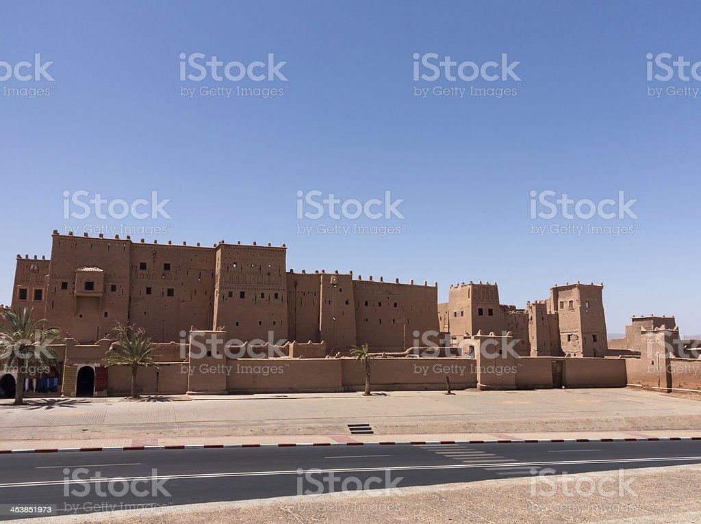 Quarzazate Kasbah Taourirt in Morocco stock photo
