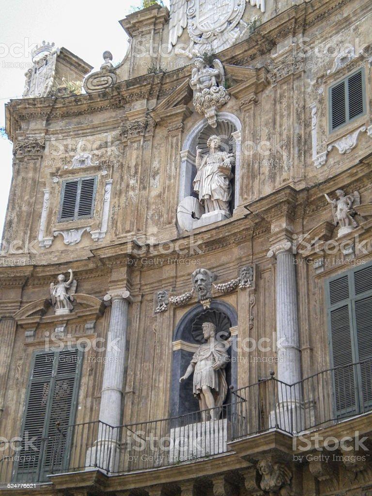 Quattro Canti in Palermo (four corners) stock photo
