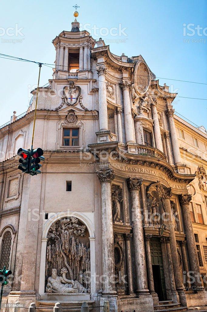 Quattro Fontane and San Carlino in Rome, Italy stock photo