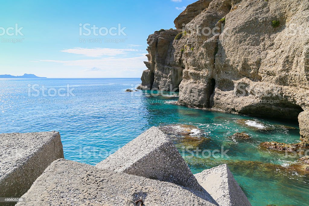 Quay and Cliffs stock photo
