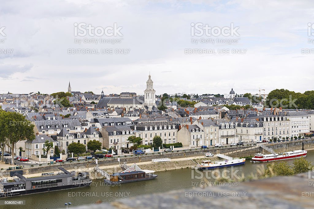 quay des Carmes in Anges, France stock photo