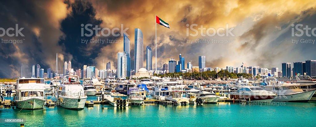 quay in Abu Dhab stock photo