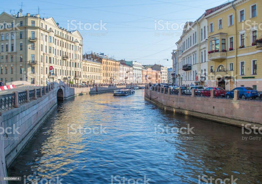 quay in Saint Petersburg. stock photo