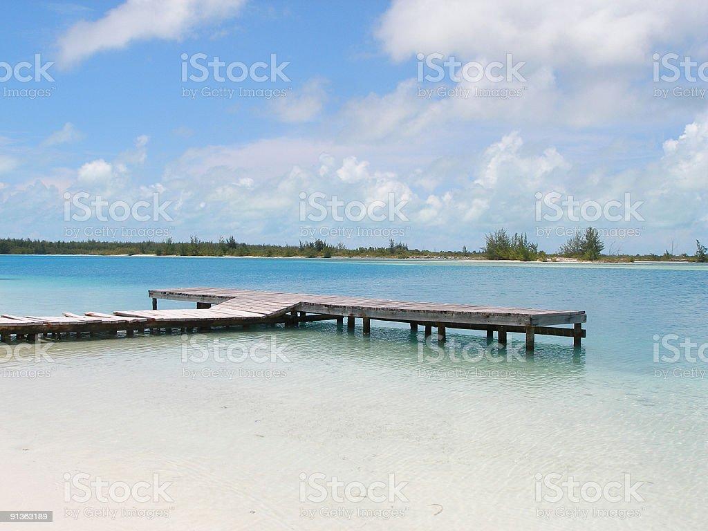 Quay in the lagoon stock photo