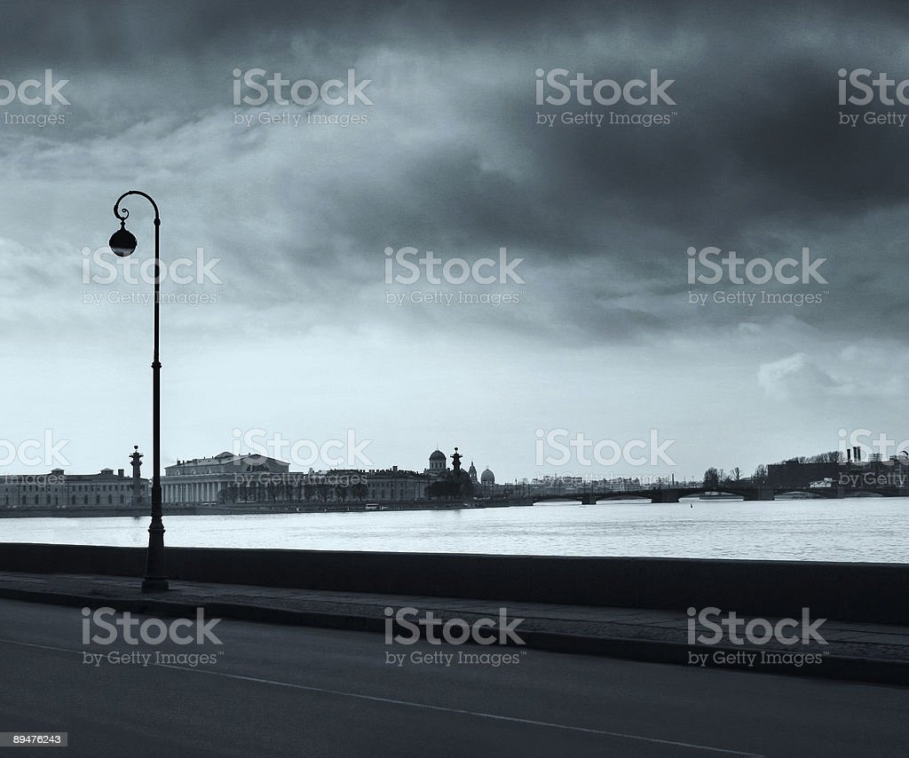 Quay of Neva river in St.-Petersburg royalty-free stock photo