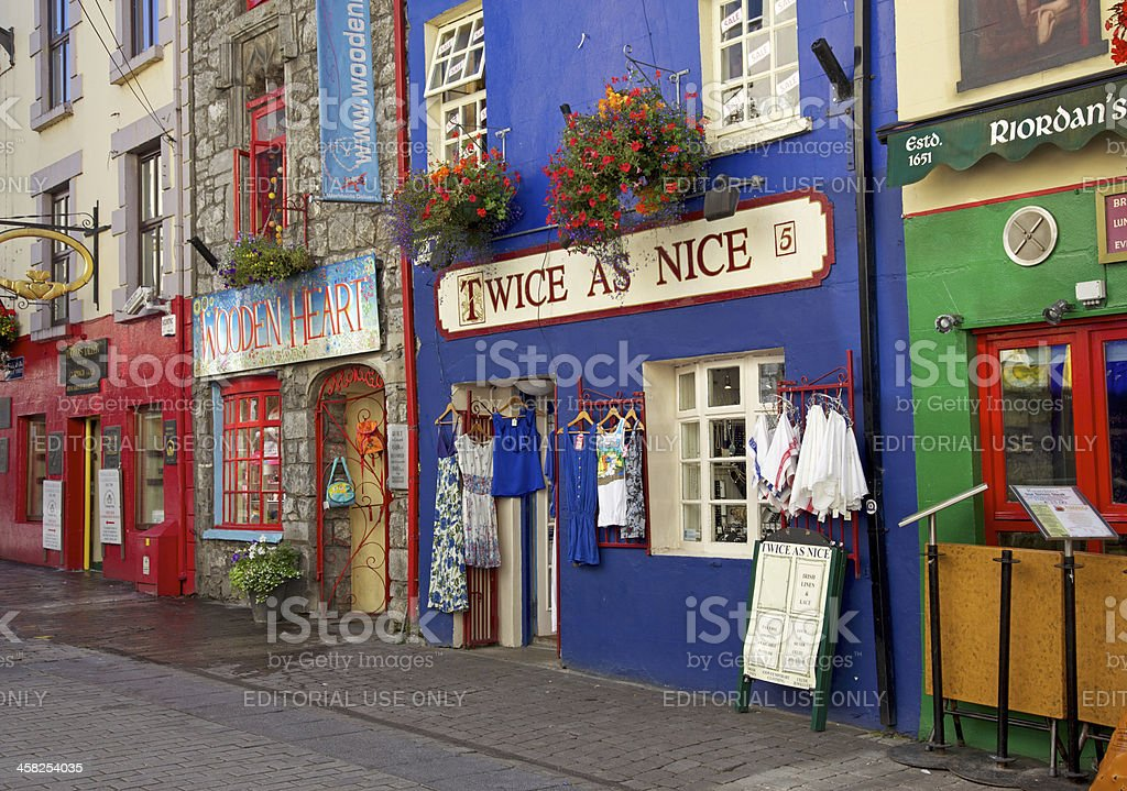 Quay Street, Galway stock photo