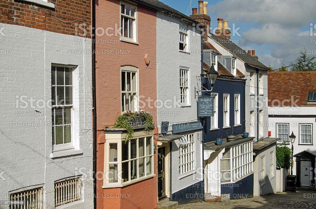 Quay Street, Lymington stock photo