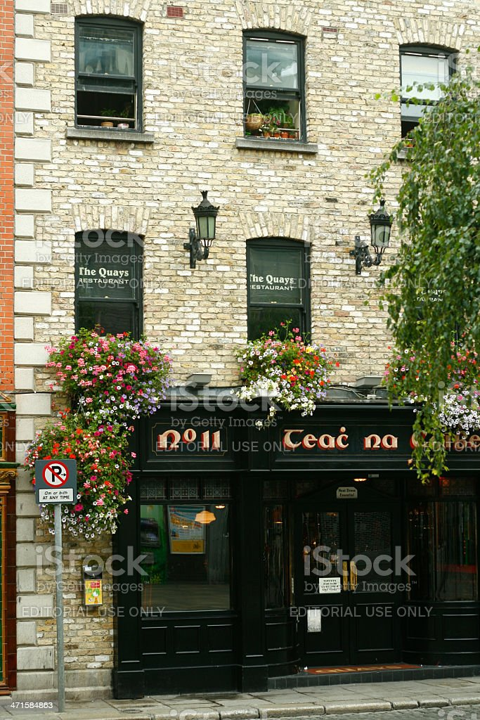 Quays Irish Restaurant royalty-free stock photo