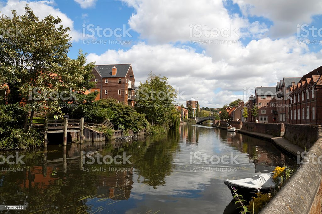 Quayside and River Wensum, Norwich stock photo