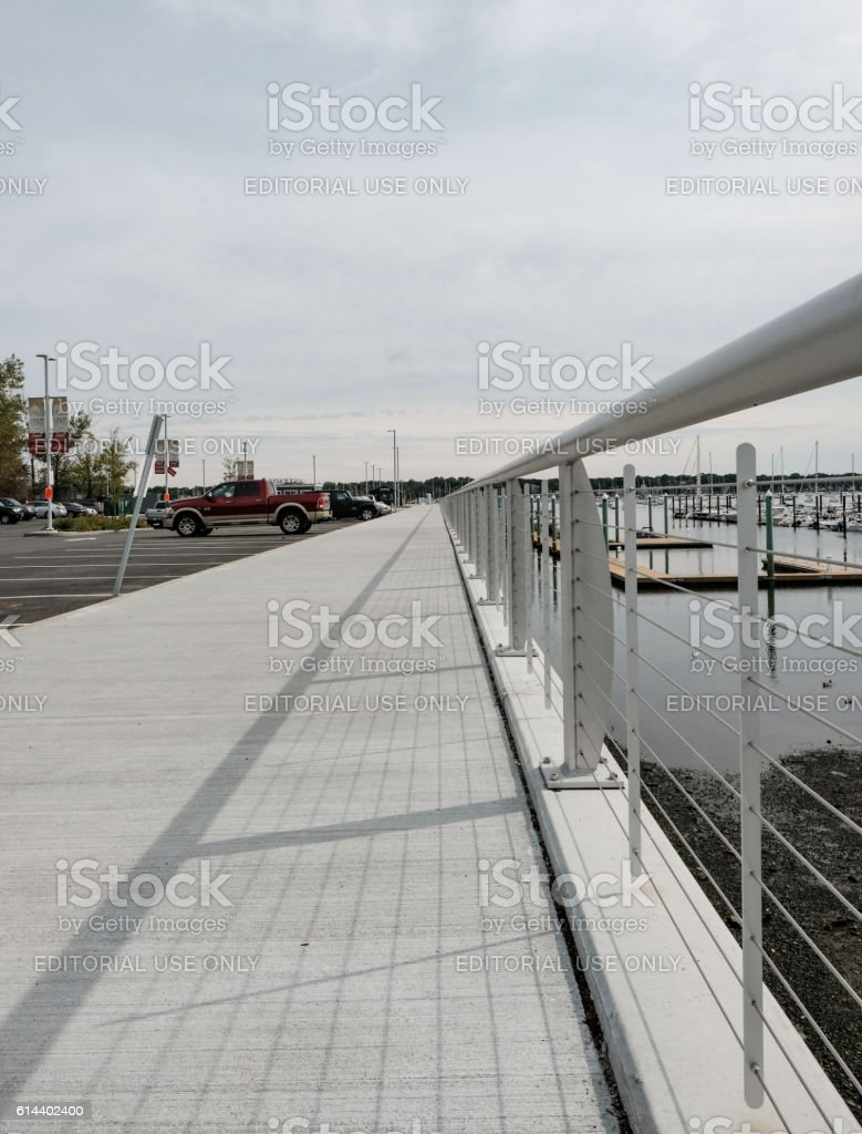 Quayside Area In The Historic Town Of Salem, MA stock photo
