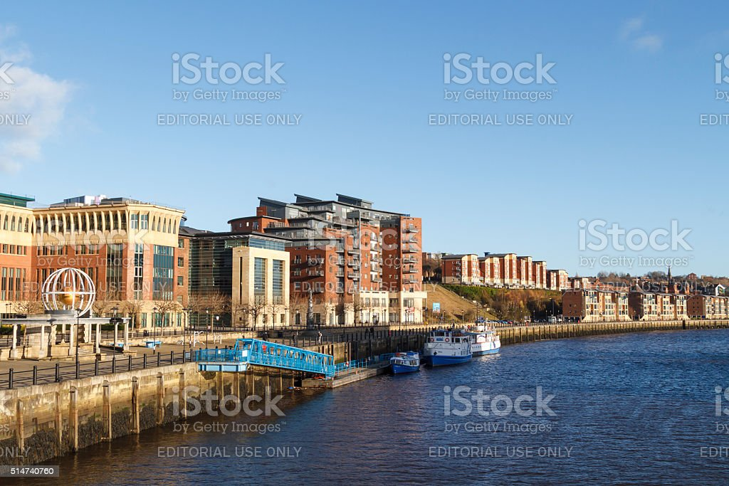 Quayside in Newcastle stock photo