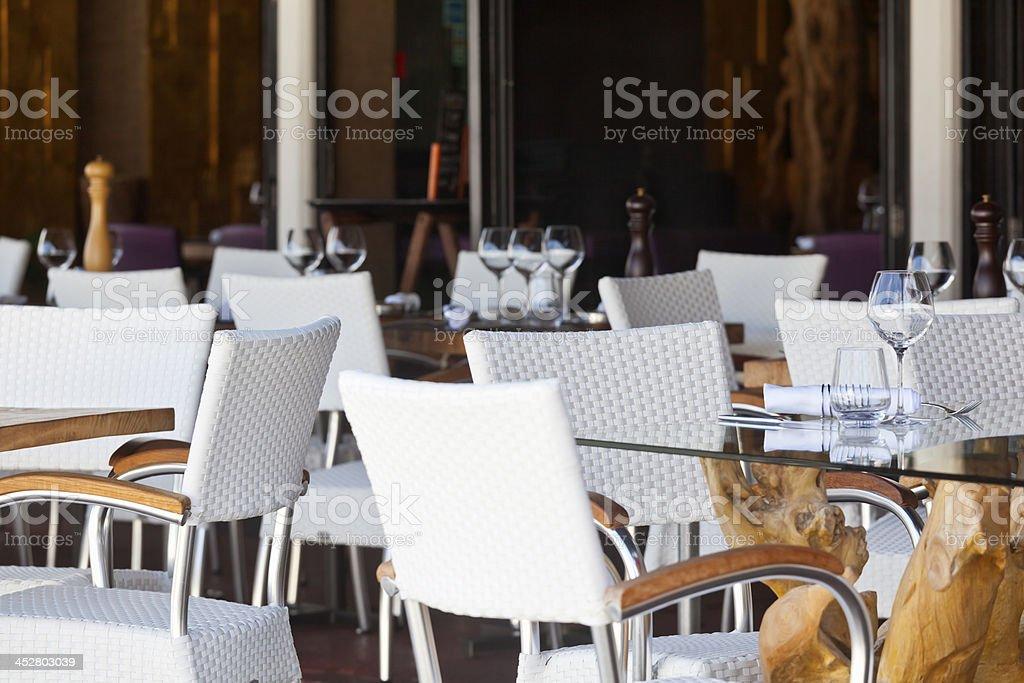 Quayside Restaurant St Jean Cap Ferrat stock photo