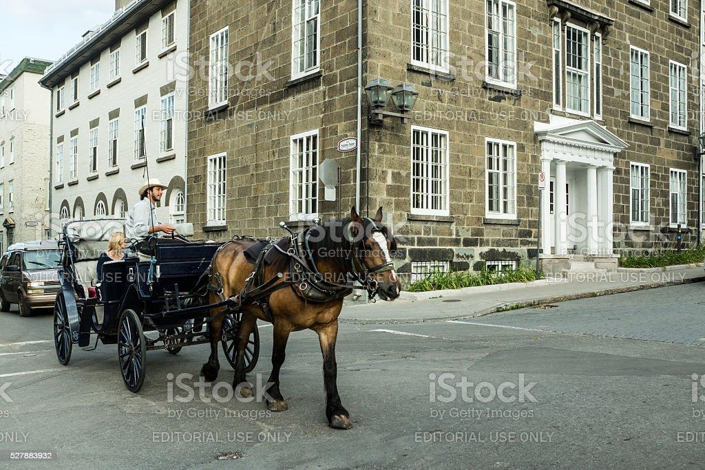 Quebec Carriage Trade stock photo
