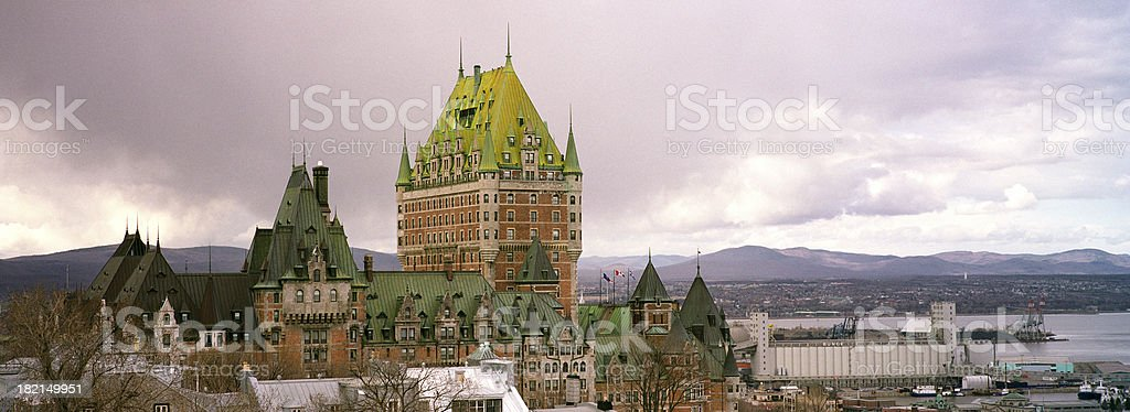 Quebec City before storm royalty-free stock photo