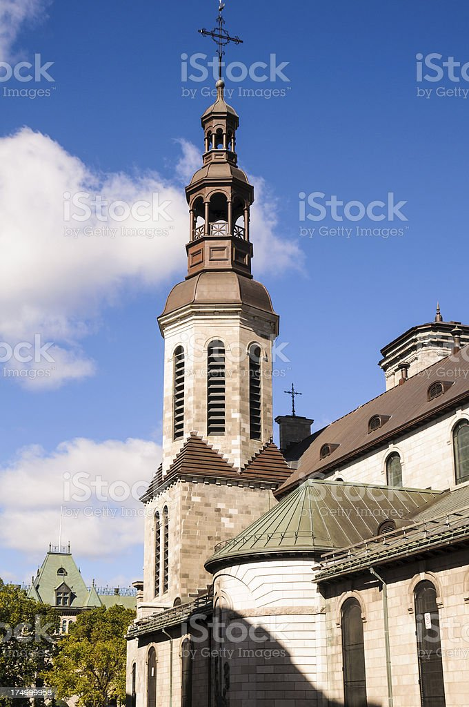 Quebec City Bell Tower royalty-free stock photo