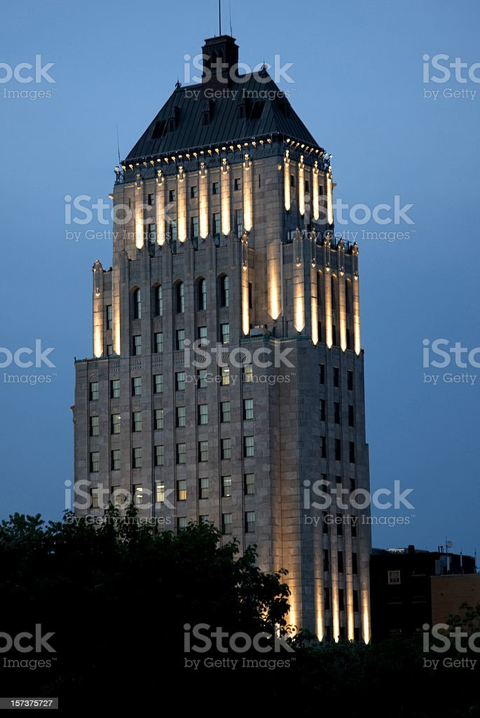 Quebec City building at dusk royalty-free stock photo
