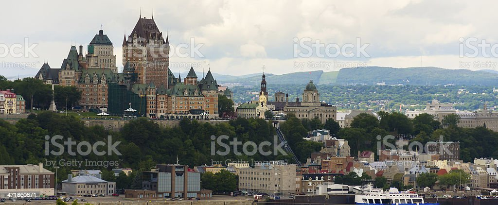 Quebec City Castle, Chateau Frontenac Hotel, Canada royalty-free stock photo