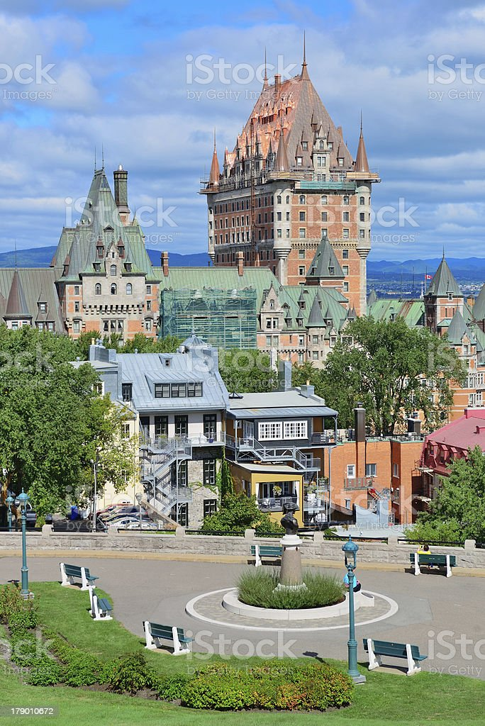 Quebec City cityscape royalty-free stock photo