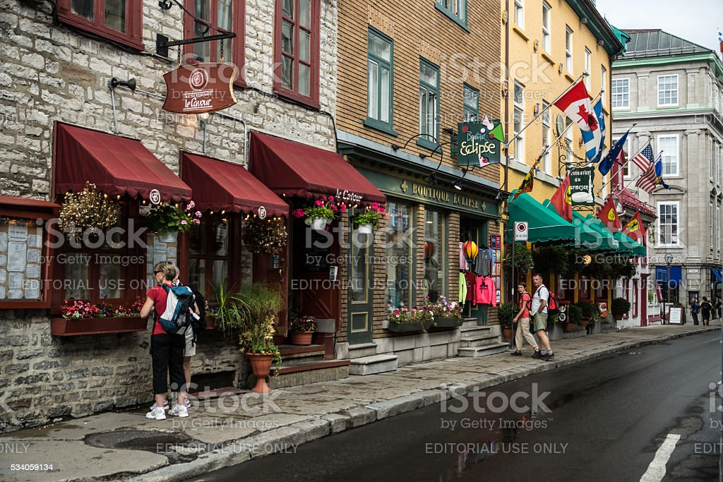 Quebec City Commerce stock photo