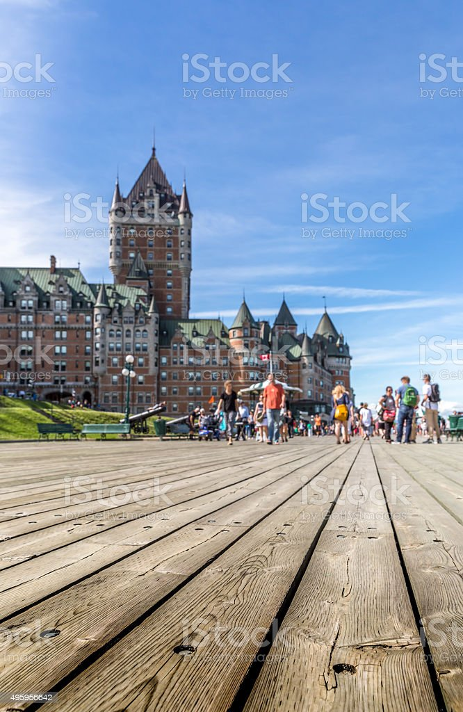 Quebec City in Summer Time, Canada stock photo