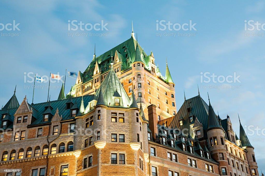 Quebec City landmark - hotel Chateau Frontenac royalty-free stock photo