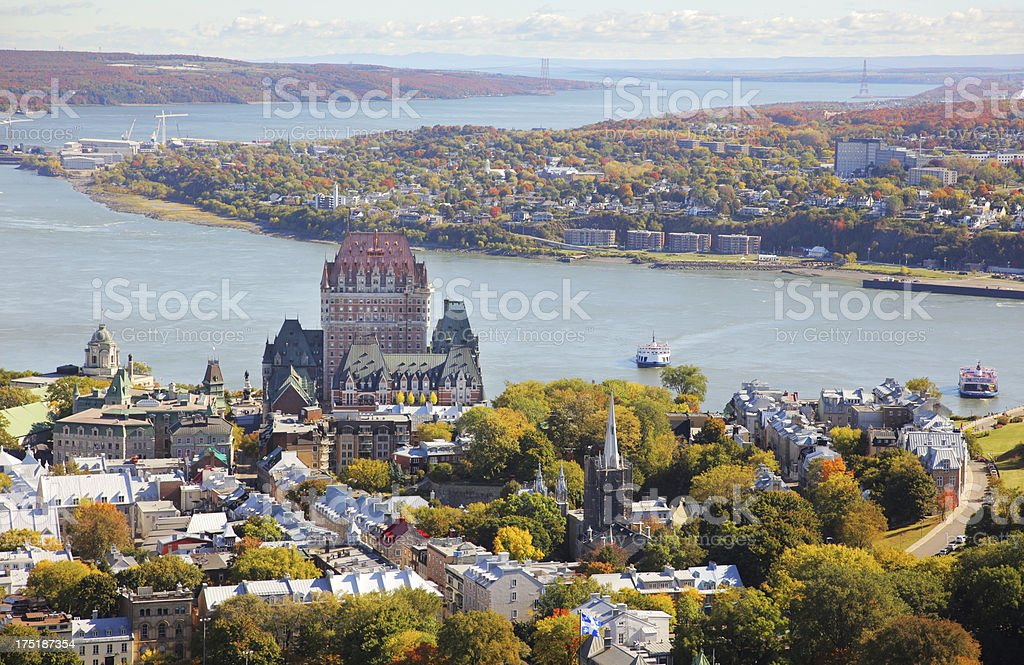 Quebec City Landscape stock photo