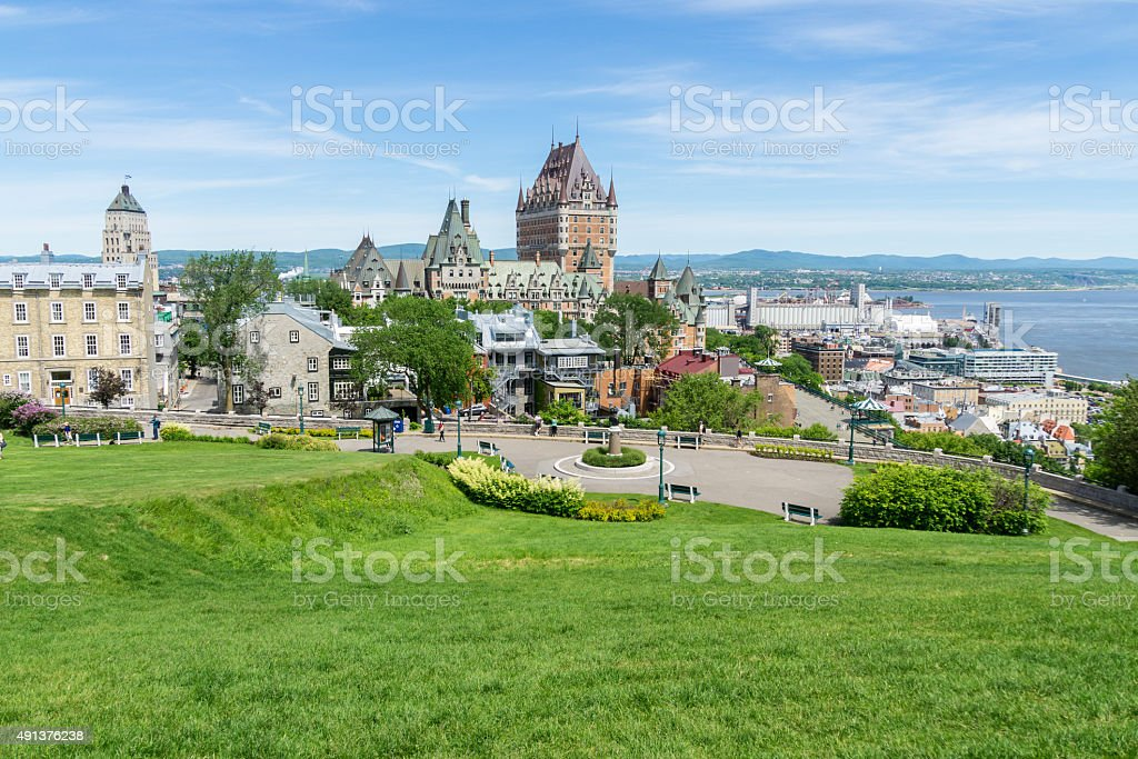 Quebec City Old Town View stock photo