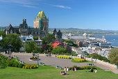 Quebec City Park near the Frontenac Castle