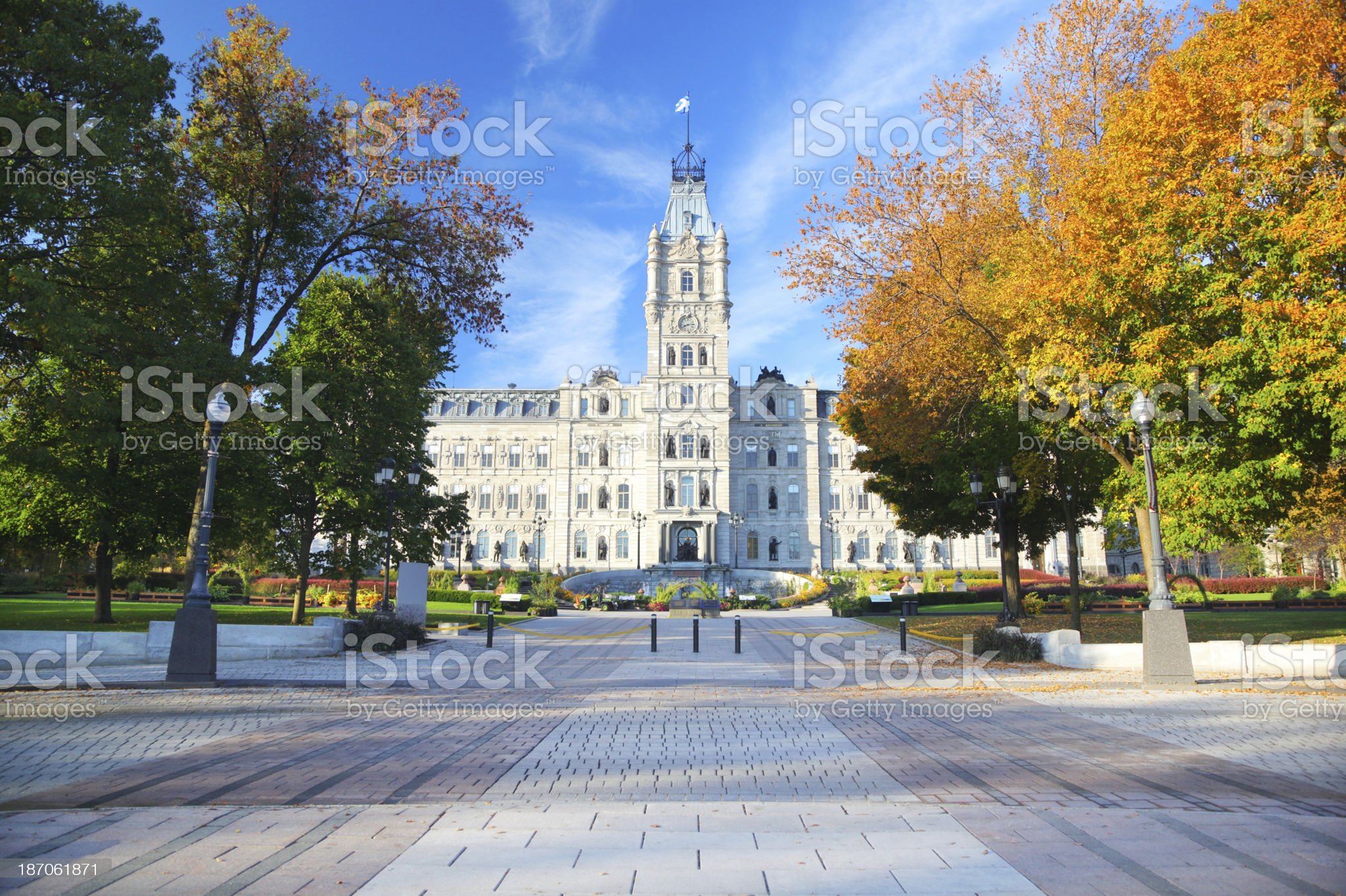 Quebec City Parliament Building and Park royalty-free stock photo