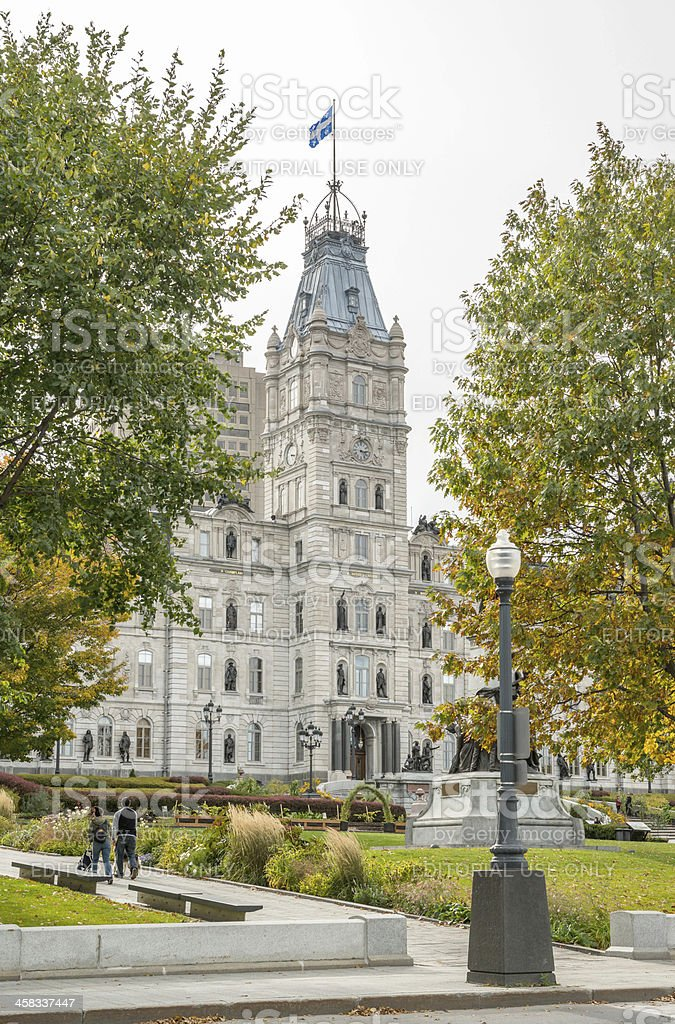 Quebec City Parliament Building royalty-free stock photo