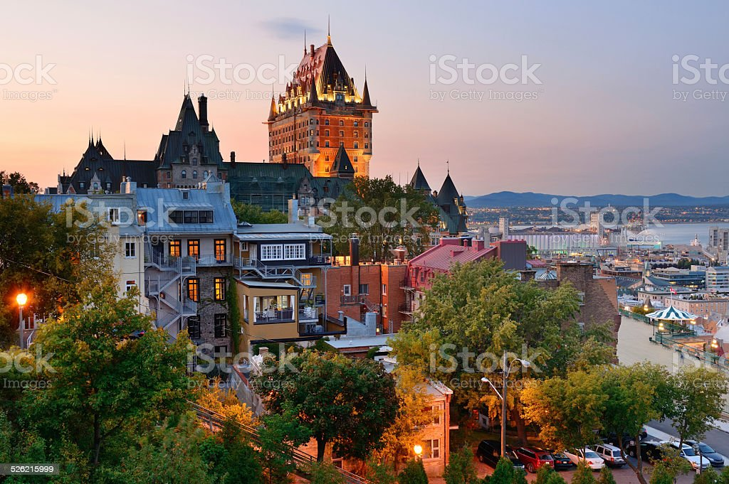 Quebec City stock photo