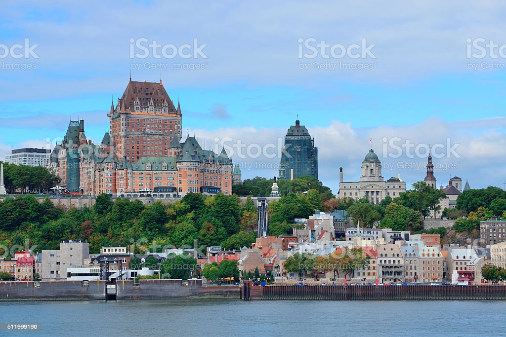 Quebec City skyline stock photo