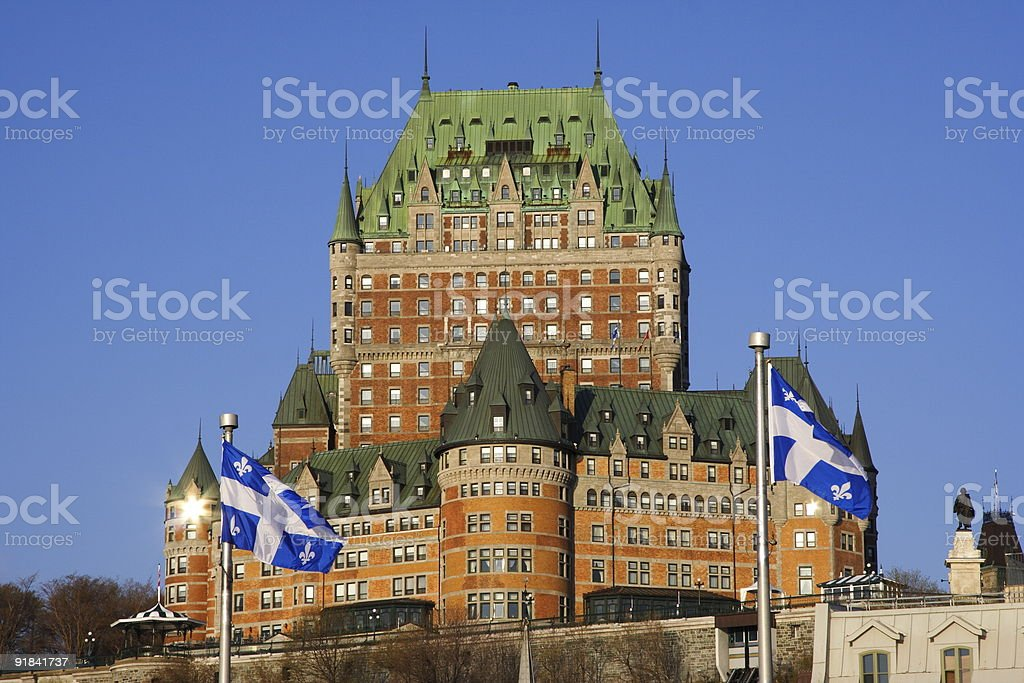 Quebec City tourist attraction royalty-free stock photo
