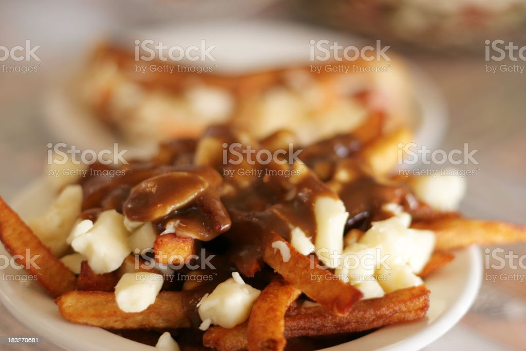 Quebec Fast Food stock photo
