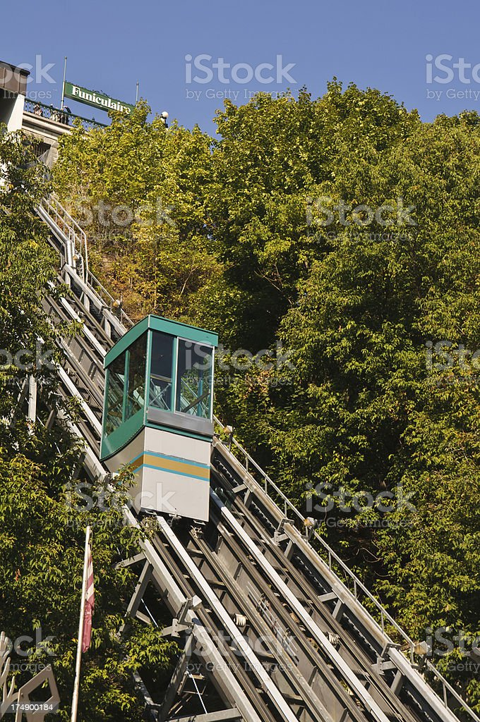 Quebec Funicular royalty-free stock photo
