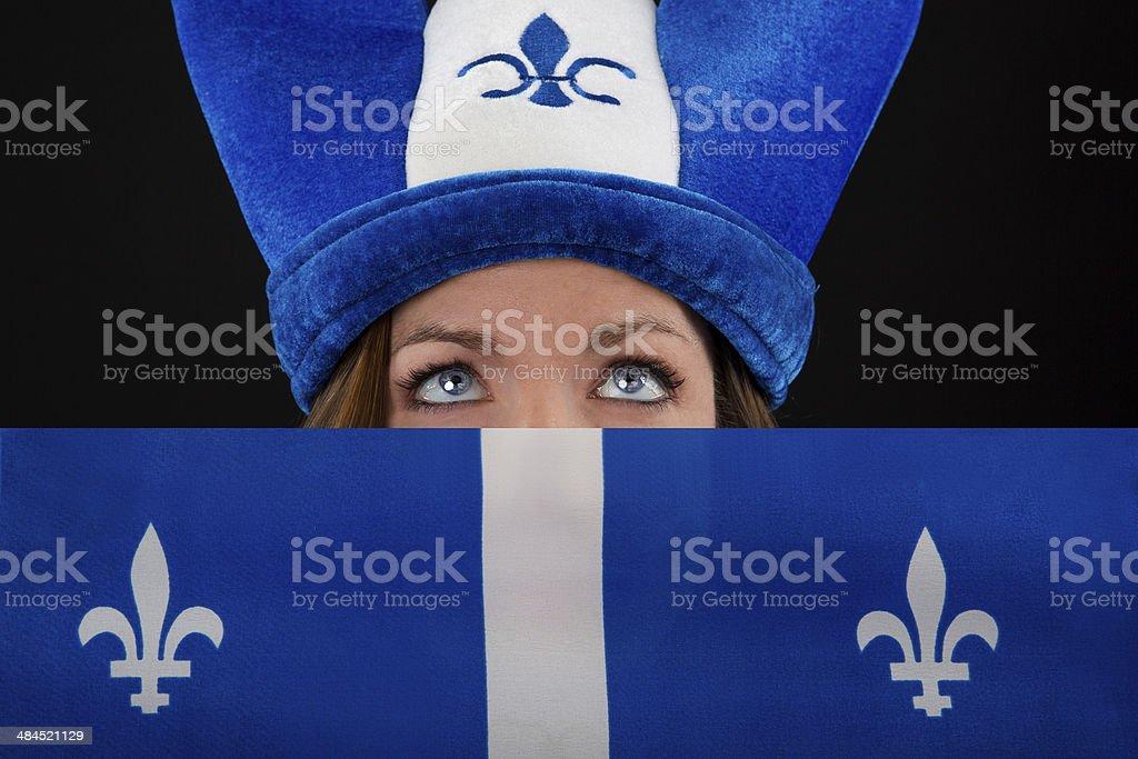 Quebec girl stock photo