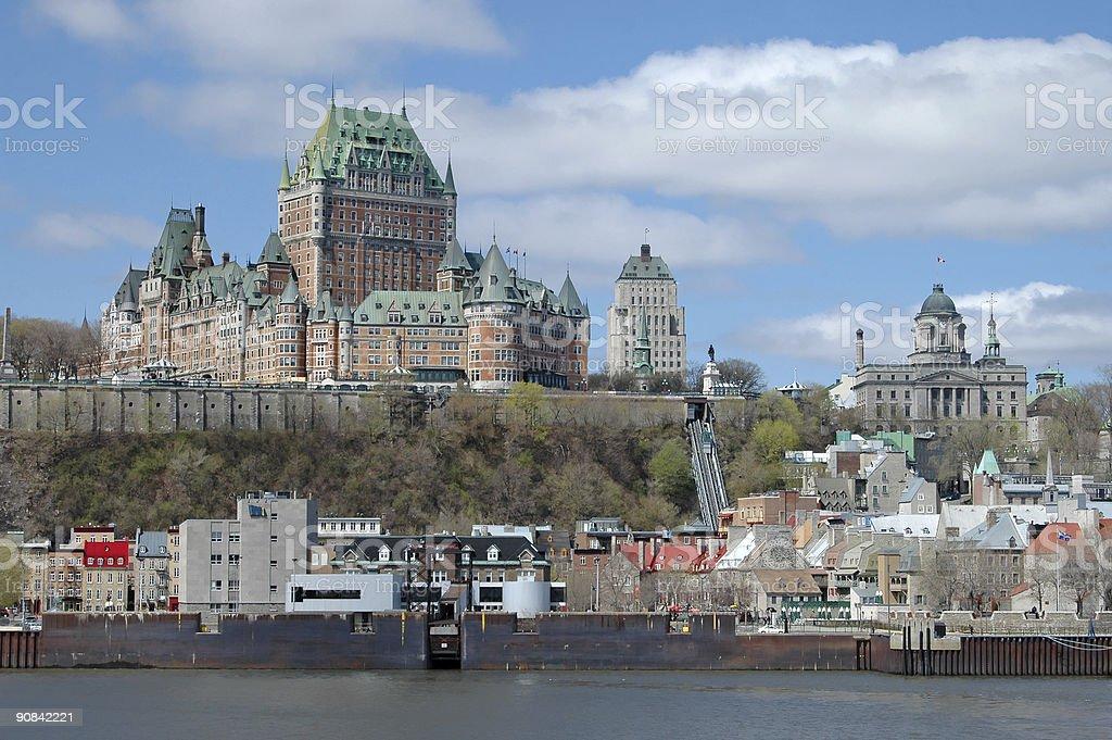 Quebec Harbor royalty-free stock photo