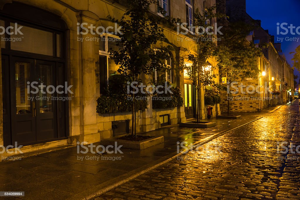 Quebec Nightscape stock photo