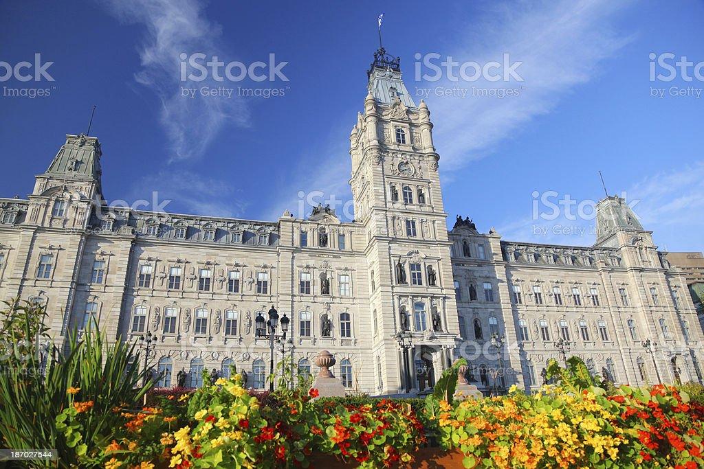 Quebec Provincial Parliament Building royalty-free stock photo