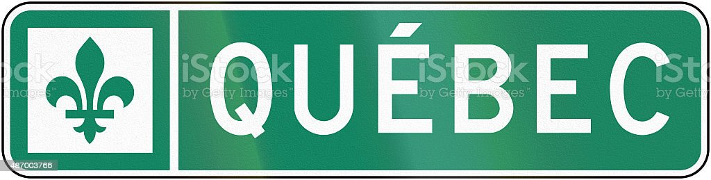 Quebec Sign stock photo