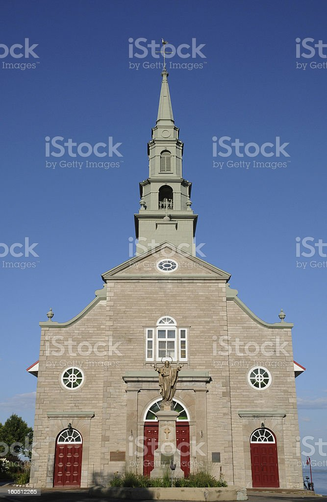 Quebec, the historical church of Saint Jean royalty-free stock photo