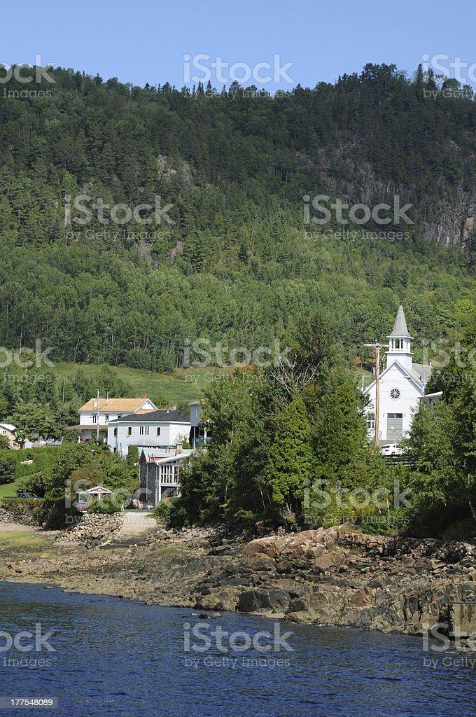 Quebec, the village of Sainte Rose du Nord stock photo