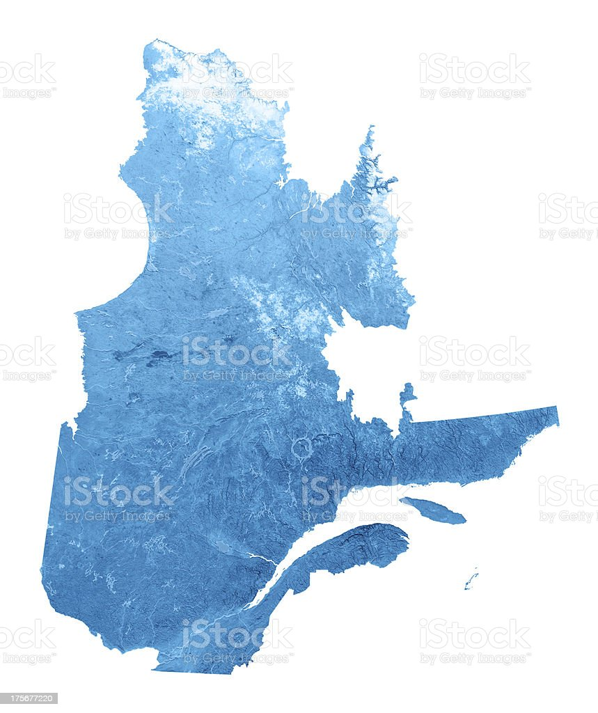 Quebec Topographic Map Isolated royalty-free stock photo