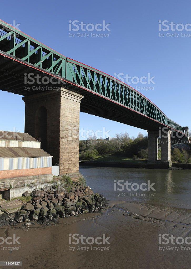 Queen Alexandra Bridge, Sunderland stock photo