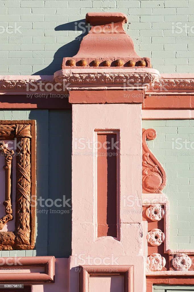 Queen Anne Architectural Facade Detail stock photo