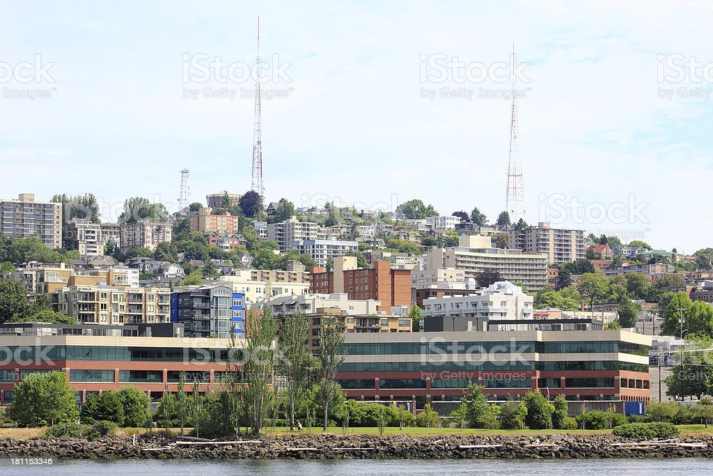 Queen Anne Hill royalty-free stock photo