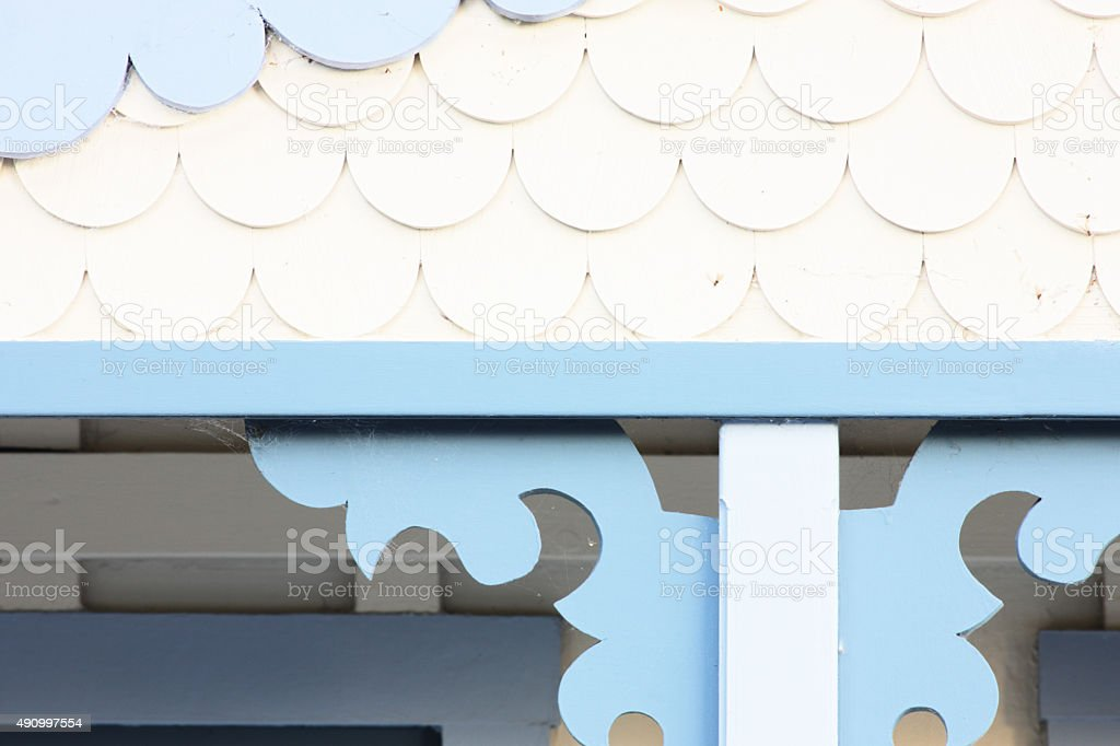 Queen Anne Victorian Moulding Architecture stock photo